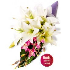 Asiatic and Orchid Bouquet